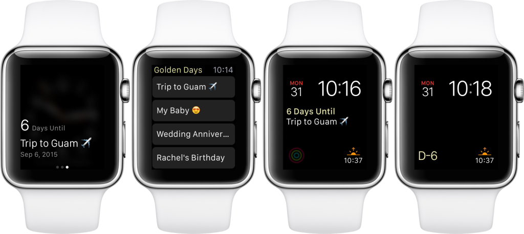 Count down to important dates on your Apple Watch with Golden Days